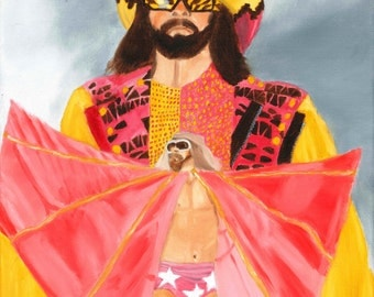 Macho Man Randy Savage - WWE Gifts - Wrestling Gifts - Oil Painting - Print