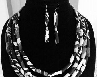Multi-strand 3pc Necklace, Bracelet and Earring Set