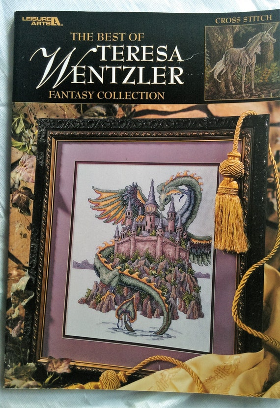 The Best Of Teresa Wentzler Fantasy Collection Cross Stitch Chart Book by Leisure Arts