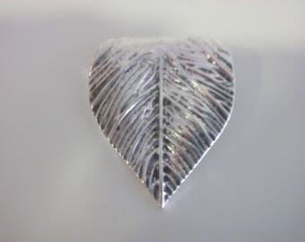 Silver leaf pendant for necklaces,for 3,4 and 5mm size.