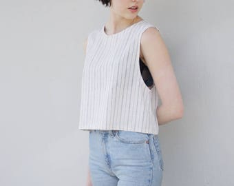tank top 2 in hemp/organic cotton stripe