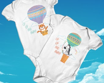 Up And Away Baby Bodysuit | Cute Baby Clothes | Funny Baby Bodysuit | Animal Baby Bodysuit | Baby Shower Gift | Newborn Baby Clothes