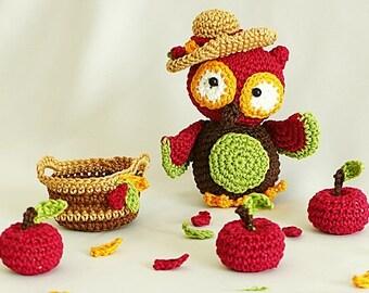 "PDF: Garden Owl ""Harriet"" Amigurumi Crochet Pattern"