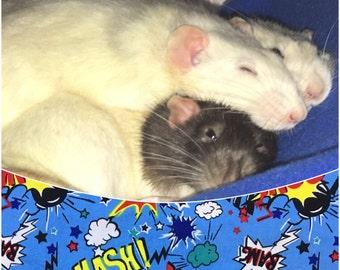Small animal accessories, ferret bed, squirrel bedding, fleece hammocks, rat accessory, graduation gift for him