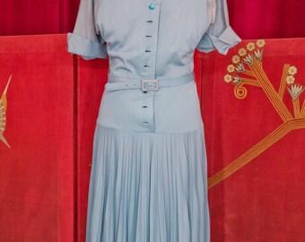 1940s/1950s Deco Dress - Peerless Casual - Size S