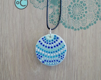 Blue porcelain jewelry