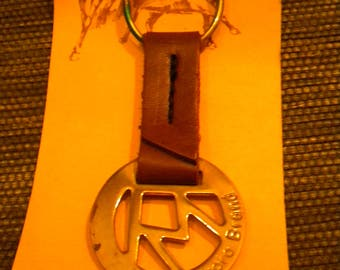 Marlboro cigarette Keychain The Marlboro brand mark genuine leather collecting rarity vintage