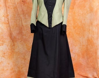 Historical Victorian Steampunk Walking Dress Custom Sized