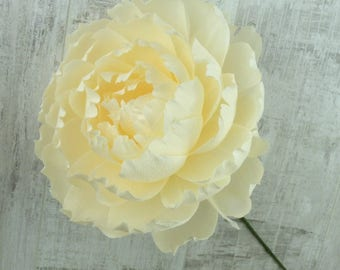 Handmade Paper Peony - Extra Large 10 inch diameter in Ivory
