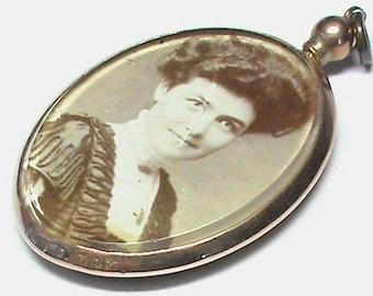 Antique  Edwardian 9ct Gold Double Sided Photo Locket - Birmingham 1909