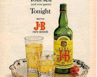 J & B Rare Scotch 1967 Ad Scrapbooking Wall Art