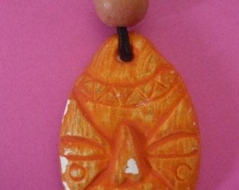 chain with orange mask
