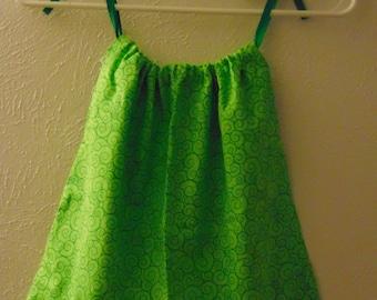 St. Patty's Day Green Pillowcase Dress 12-18M