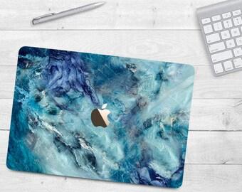 Light Blue Marble Case Macbook Air 11 Air 13 Hard Case Macbook Pro 13 15  Marble Case Macbook 12 Marble Texture Blue Marble Macbook Case
