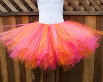 Orange and Hot Pink Tutu/Trolls DJ Suki Tutu - Other Colors Available