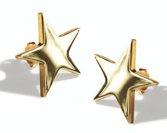 Veronica Star Earrings, solid 9ct Gold