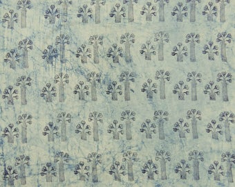 Sold By Yard Indian Hand Block Printed 100% Pure Cotton Voile Fabric, Jaipuri Kasis Print Light Weight Cotton Natural Dye Fabric HPS#271