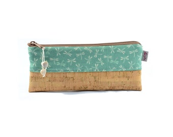 Pencil case cosmetic bag vials with Cork