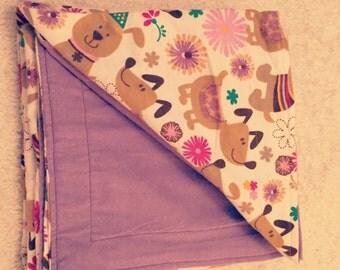 Receiving Blanket - Purple Pooch