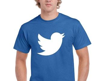 Twitter Logo T-Shirt Funny Costume Humor Unisex