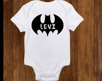 Personalized baby gift, personalized baby boy gift, baby shower gift, batman onesie, batman baby, batman baby shower, batman birthday