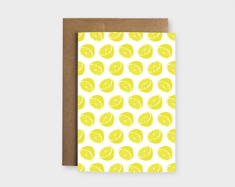 "Greeting card ""Lemon"""