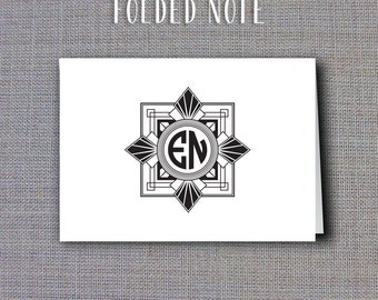 Printable Thank You Cards or Folded Notes • Art Deco