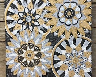 Gold and silver mandalas