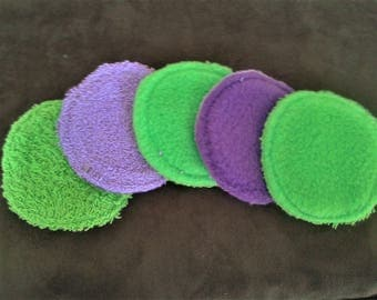 Luxury pads pads washable, reusable, ecological, make-up pad,