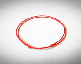 Red String Bracelet , Red String Of Fate , Kabbalah Bracelet , Protection Bracelet , Simple Bracelet , Unisex Bracelet, Good Luck Bracelet