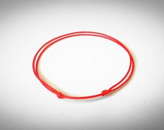 Red String Bracelet , Red String Of Fate , Kabbalah Bracelet , Protection Bracelet , Simple Bracelet , Unisex Bracelet, Good Luck Bracelet