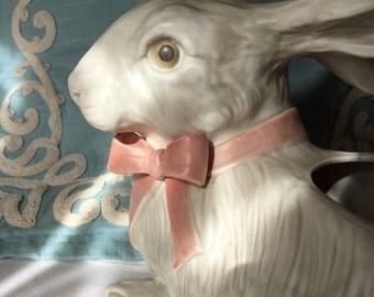 Fitz and Floyd Rabbit Planter Vintage FF Rabbit Cottage Chic