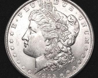 1885-0 Uncirculated Morgan Silver Dollar