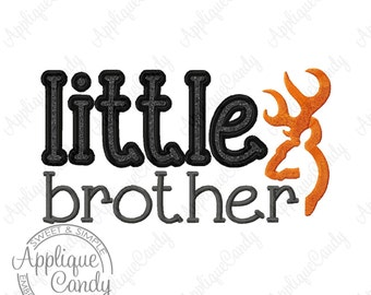 Little Brother Deer Applique Machine Embroidery Design 4x4 5x5 5x7 8x8 6x10 INSTANT DOWNLOAD