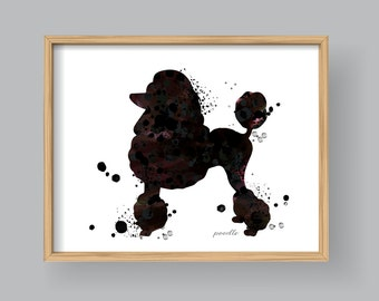 Poodle wall art etsy poodle wall art printable poodle watercolor silhouette home decor wall art kids nursery 408 pronofoot35fo Images