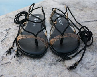 Flat sandals. Greek sandals. Ready for the summer. Women sandals. Striped sandals. Leather sandals. HANDMADE sandals. UNIQUE sandals.