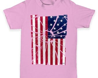 Shattered Distressed Stars And Stripes Baby Toddler T-Shirt