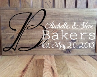 Last Name Sign//Rustic Last Name Sign//Established Sign//Rustic Established Sign//Family Sign//Custom Sign//Rustic Custom Sign