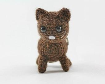 Crochet Cat EOS Holder Keychain