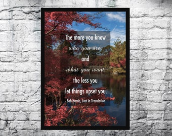 Lost in Translation Inspired A4 Film Quote Print - FREE Shipping to UK.