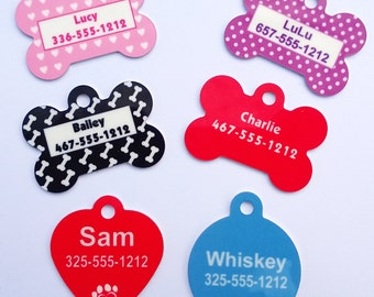 Personalized Bone Shaped Dog Tags
