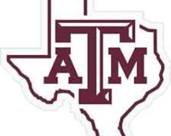 Texas A&M Decal, Personalized, Option to add Tumbler