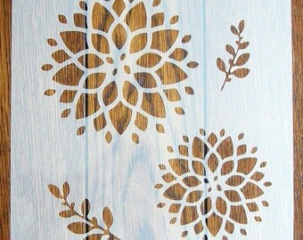 Chrysanthemum Stencil Mask Reusable Mylar Sheet for Arts & Crafts, DIY