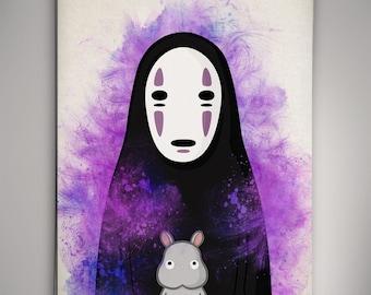 No Face Spirited Away Art Studio Ghibli Print Anime Poster