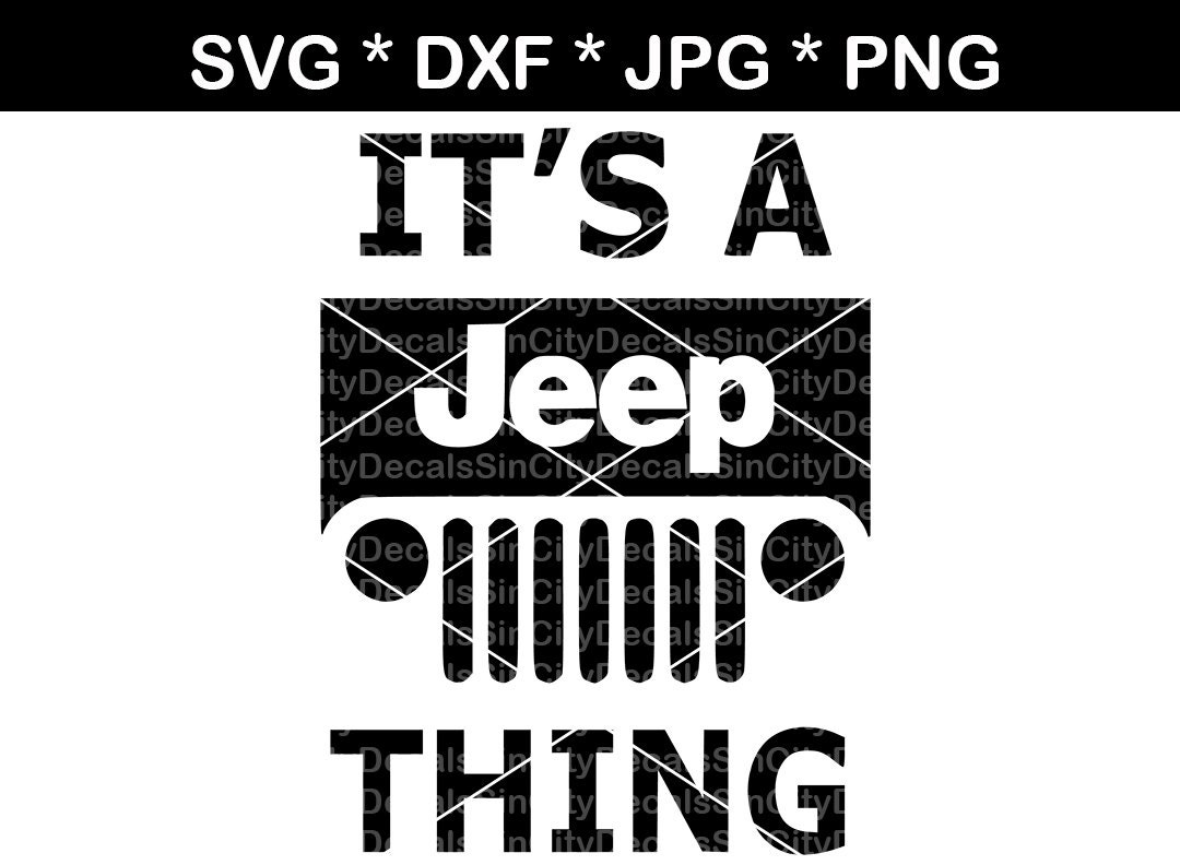 Download Jeep jeep thing 4X4 digital download SVG DXF for use with