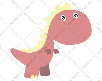 Baby Dinosaur T-Rex SVG Collection. Dino SVG Scrapbooking for use in Cricut and Silhouette Studio, and Vinly Projects. Digital Download