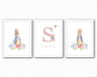 Peter Rabbit Name Trio - Floral