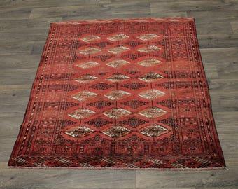 Unique Tribal S Antique Handmade Turkoman Persian Rug Oriental Area Carpet 4X5