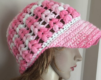 Crochet newsboy hat, soft newsboy hat