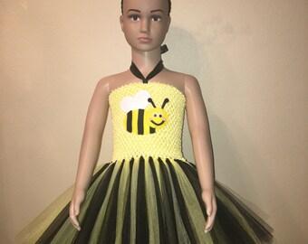 Googly Eyed Bumblebee Tutu Dress With Matching Headband.